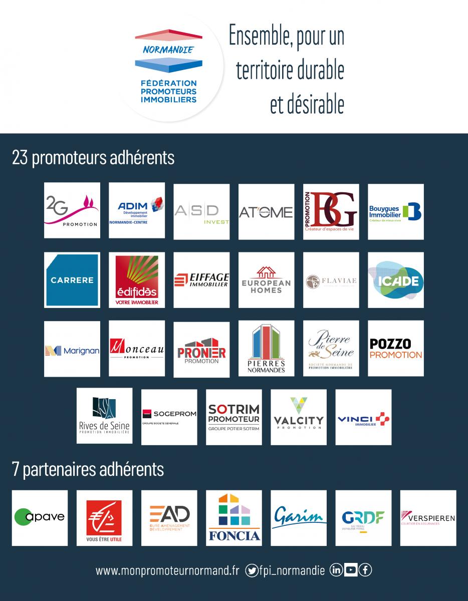 Les membres de la FPI Normandie