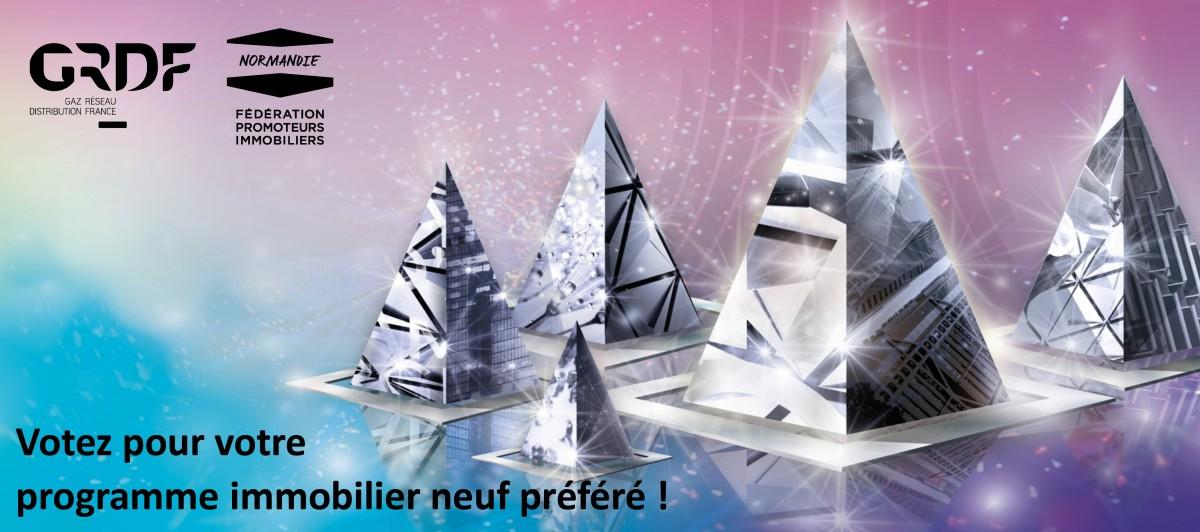 Concours des Pyramides en Normandie : votez pour votre programme immobilier neuf préféré